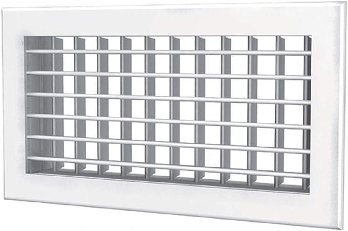 Schiebegitter 300x150mm LüFtungsgitter Schiebegitter Metall Weiß Abluftgitter
