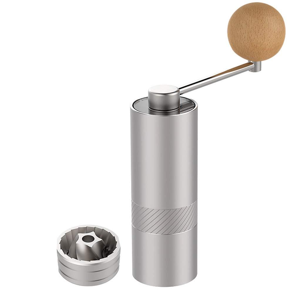 手動コーヒー豆グラインダー ハンドグラインダー コーヒーグラインダー 手動 ステンレススチール 無期限に挽くことができ、内蔵ステンレススチール、静かでポータブル MANO HOME B07MC3T2DN aluminum bottle