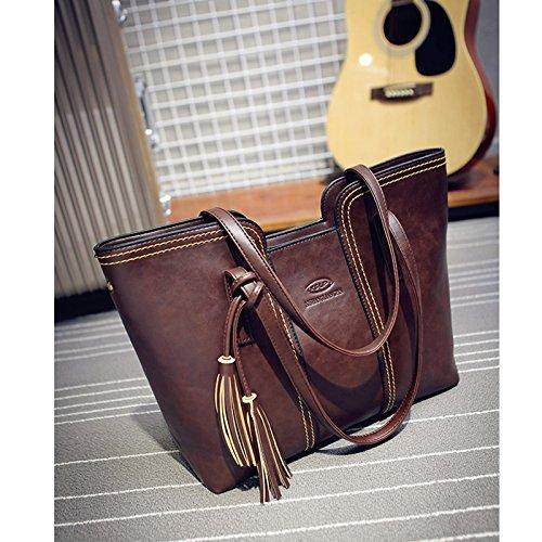 Iumer New Women Messenger Bags Large Volume Leather Casual Cosmetic Bag Vintage Tassel Shoulder Bags