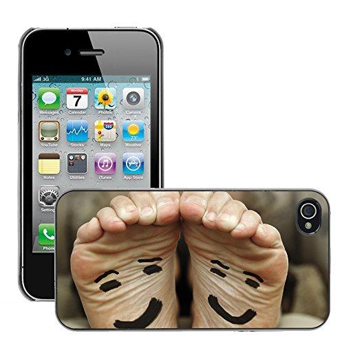 Premio Sottile Slim Cassa Custodia Case Cover Shell // V00002226 Happy feet // Apple iPhone 4 4S 4G