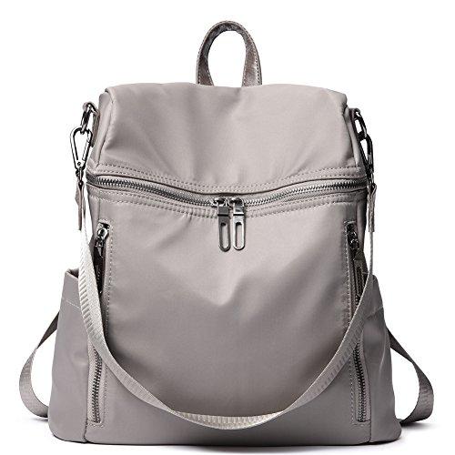 Women Backpack Purse Lightweight Fashion Nylon Ladies Handbag School Shoulder Bag Waterproof Travel Rucksack taupe