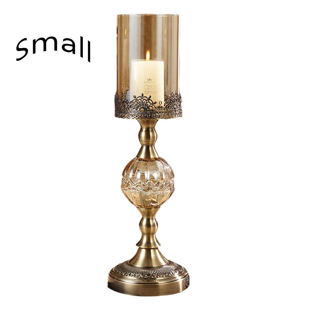 CumaSei Crystal Metal Candle Holder - Luxury and Noble - Dining Room Ornaments - Romantic Candlelight Dinner