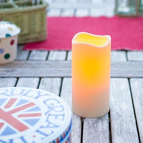 LED Kerze für Außen mit Zeitschaltuhr 15cm