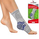 Lifehapps Active Relief Ankle Brace with Gel Pads -Ankle Sleeve for Plantar Fasciitis, Heel Spurs, Achilles Tendon, Joint Pain, Sprains and Swelling. Compression Sock Aids in Recovery and Support