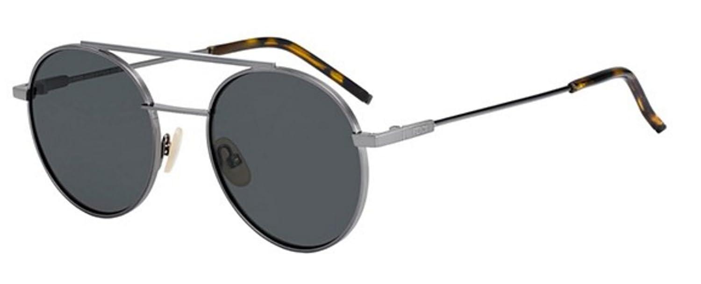 8044cf3a7c Amazon.com  New Fendi AIR FF 0221 S KJ1 M9 Ruthenium Grey Dark Grey  Sunglasses  Clothing