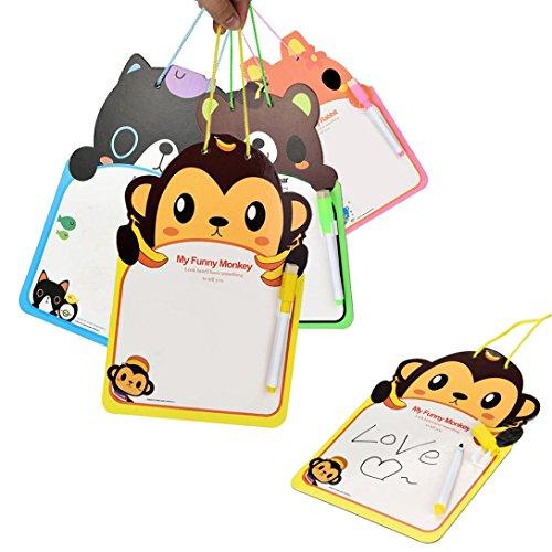 ホワイトボードマーカー[教育おもちゃ]可愛い漫画対話型学習ボードwith Dry Eraseマーカーfor Kid Da-002441