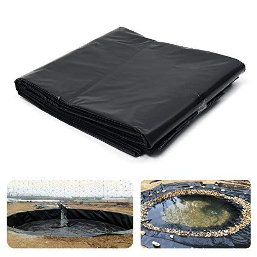 dDanke HDPE 20S Black Pond Liner for Reservoir Fish Pond Lotus Pond Waterfall & Water Features 13ftx11.5ft ()