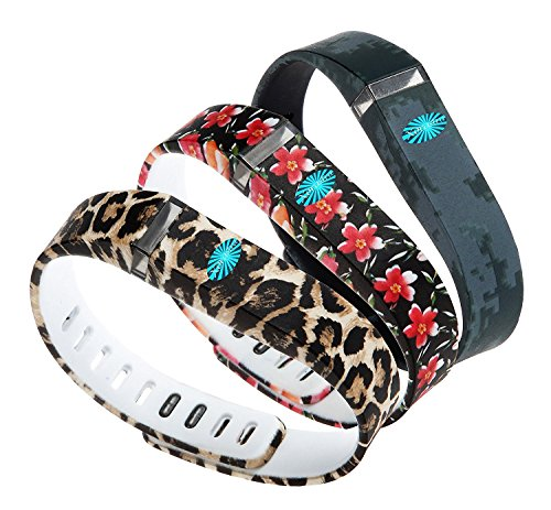 Quality Activity Tracker Amaryllis Animal Print Black