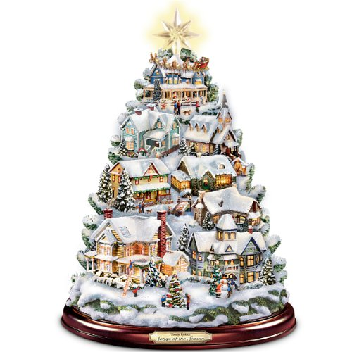 Amazon.com: Thomas Kinkade Christmas Tabletop Tree: Songs
