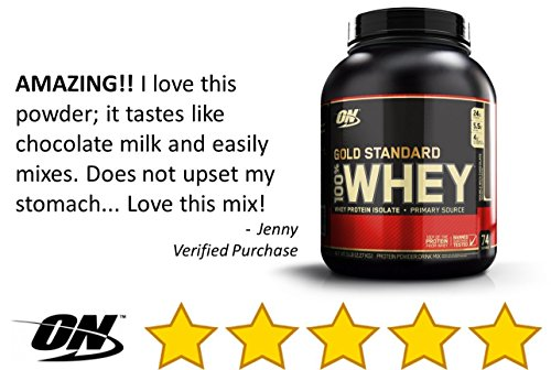 Optimum Nutrition Gold Standard 100% Whey Protein Powder, Double Rich Chocolate, 5...