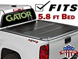 Gator FX (fits) 2014-2018 Chevy Silverado GMC Sierra 5.8 Foot Bed Only Hard Folding Aluminum Tonneau Truck Bed Cover Made in the USA (8828120)