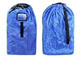 Durable Car Seat Travel Bag, Car Seat Cover, Infant and Baby Carrier Travel Bag,Gate Check Bag for Car Seats,210D Oxford Blue