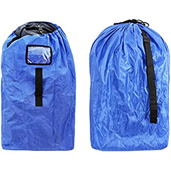 Durable Car Seat Travel Bag Cover Infant And Baby Carrier BagGate Check For Seats210D Oxford Blue