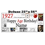 1927 DELUXE PERSONALIZED BANNER by Partypro