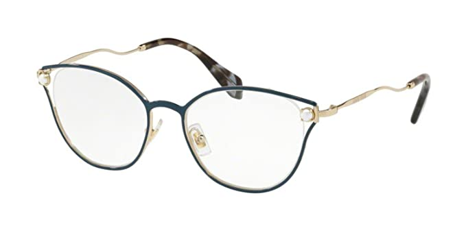 3cf08ca25930 Eyeglasses Miu MU 53 QV WWK1O1 BLUE  Amazon.ca  Clothing   Accessories