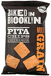 product image for Baked in Brooklyn Pita Chips, Multigrain, 8oz. Bags (Pack of 12)