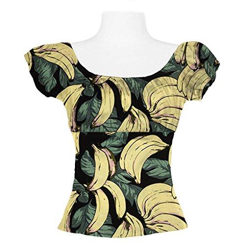 Candow Look - Camiseta de manga larga - para mujer Banana Pattern