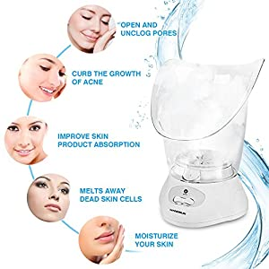 Hangsun Facial Steamer Face Sauna Mist Sprayer FS80 Professional Home Spa Moisturizing Humidifier Personal Skin Care with Aromatherapy Diffuser for Pores Acne Blackheads