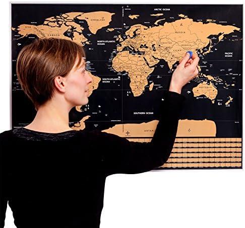 MyGadget Mapa del Mundo para Rascar las Aventuras - Póster Mapamundi Scratch Off - Travel Edition Map de tus Viajes con Países y Banderas [Ingles]. Negro: Amazon.es: Hogar