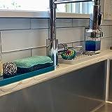 Silicone Kitchen Sink Organizer Tray and Sponge