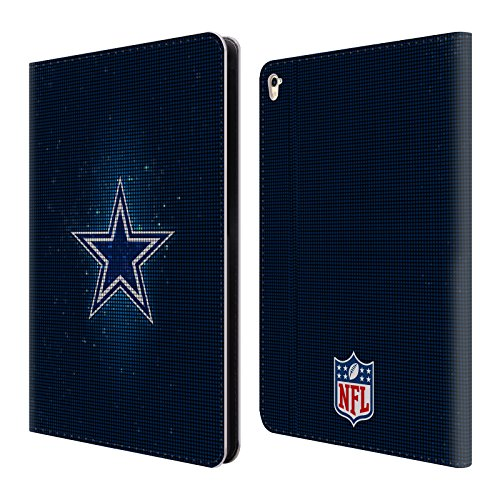 Official NFL LED 2017/18 Dallas Cowboys Logo Leather Book Wallet Case Cover For Apple iPad Pro (Cowboys Led)