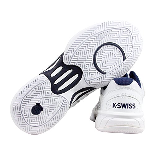 K-Swiss Men'S Express Leather Athletic, White/Navy, 8 M US