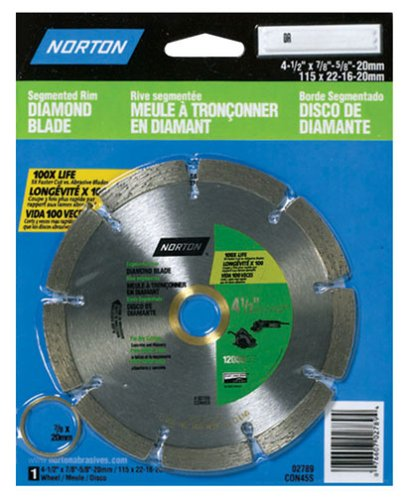 NORTON 02789 4-1/2-Inch X 7/8-Inch Diamond Blade Segmented (Norton Tile Saw)