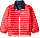 Helly Hansen Kids & Baby Barrier Down Insulator Lightweight Packable Jacket, Reversible Color Option Coat, 197 Goji Berry, Size 6