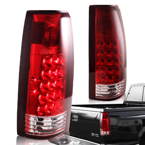 1988 - 1998 Chevy/GMC C10 Truck Chrome Housing Red Lens Altezza Style Rear Tail Lights ()
