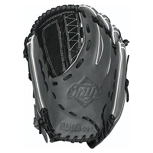ウィルソンオニキスAso Outfield Fastpitchソフトボールグローブ、ブラック/ Coal , Right Hand Throw、12.75-inch B00KU4GI9I