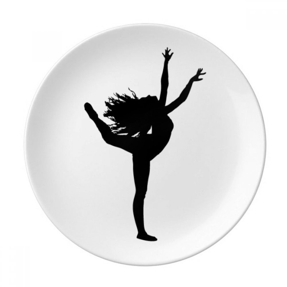 Sports Dance Dancer Performance Art Dessert Plate Decorative Porcelain 8 inch Dinner Home