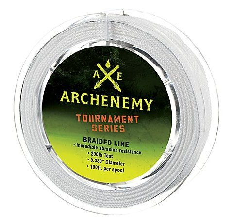 Archenemy Tournament Series Braided Bowfishing Line, 200 lb, 100 feet