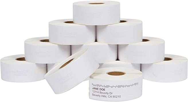 """Compatible DYMO 30252 1-1//8/"""" x 3-1//2/"""" Address /& Barcode Labels-10 Rolls"""