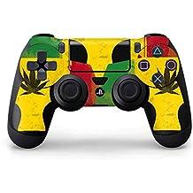 Rasta PS4 Controller Skin - Marijuana Rasta Distressed | Skinit Lifestyle Skin