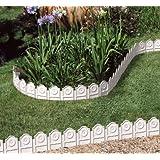 Bordura da Giardino SIENA. 3,25 m.Set da 4. Colore: Bianco