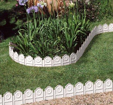 Bordure Per Giardino.Bordura Da Giardino Siena 3 25 M Set Da 4 Colore Bianco
