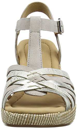 Gabor Shoes Comfort, Sandalias con Cuña para Mujer Rosa (puder ba.st)