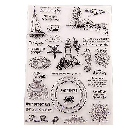 GIMITSUI Store Silicone Clear Stamp (Sea World)
