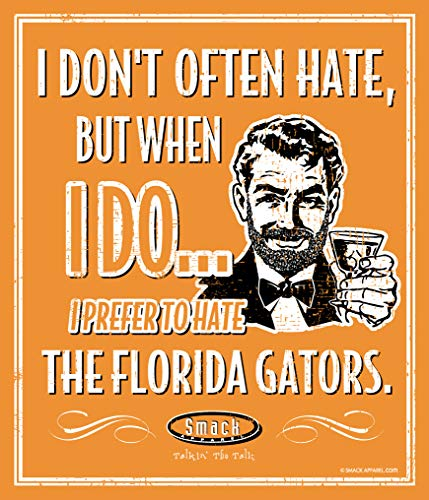 (Smack Apparel Tennessee Football Fans. I Prefer to Hate The Florida Gators. 12'' X 14'' Metal Fan Cave Sign)