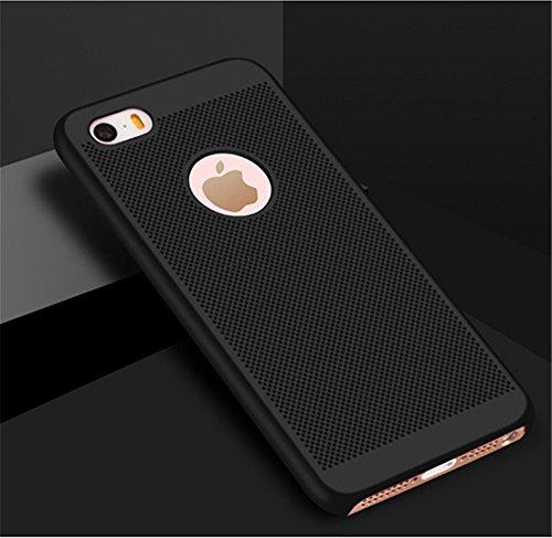 iPhone Matte Lisse Vanki iPhone Mince Case Coque Case Ultra 5 Lgre pour SE Mesh Noir 5S Premium Dsign Surface iPhone Respirant aUwwx6