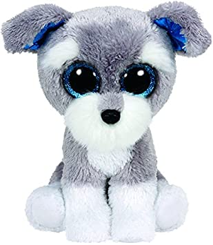 Ty - Beanie Boos Whiskers, Perro, 15 cm, Color Gris (United Labels