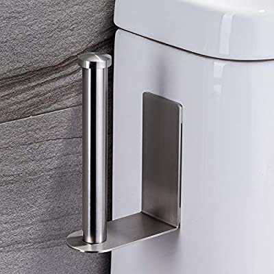 Taozun Tank Toilet Paper Holder - Self Adhesive Toilet Paper Roll Holder Stand for Bathroom, no Drilling SUS 304 Stainless Steel Brushed ¡­