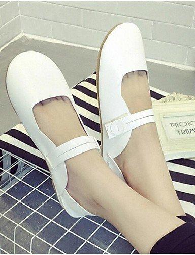 blanco PDX eu36 negro redonda zapatos talón us6 Flats plano blue punta azul uk4 Casual de mujer cn36 de RgRqr7xZ