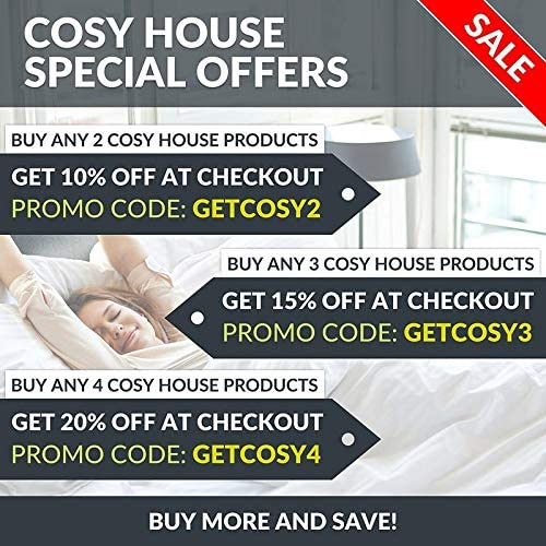 Cosy House Collection Luxury Bamboo Duvet Cover Set 2-Piece - Ultra Soft Hypoallergenic Bedding - Zippered Comforter Protector, Includes 1 Pillow Sham - Twin/Twin XL - White