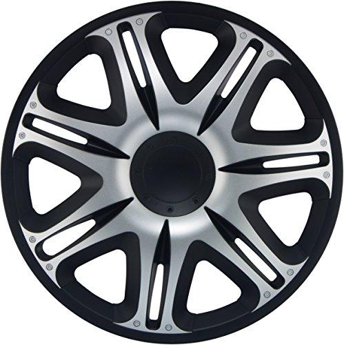 Simoni Racing NAS/16SB Tapacubos Nascar Silver Black, 16 pulgadas: Amazon.es: Coche y moto