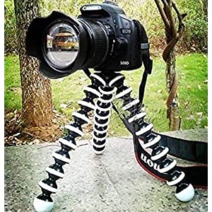 Ceuta Retails Hoji Fully Flexible Foldable Twist It , Bend It, Tilt It, Octopus Gorilla Tripod Stand Combo for DSLR's, Mobile Camera, Smartphone, Photography, Video Recording, Youtuber, 13 inch 10