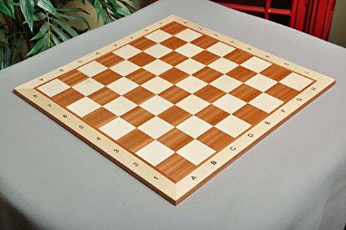 Mahogany Maple Chess Board - 5