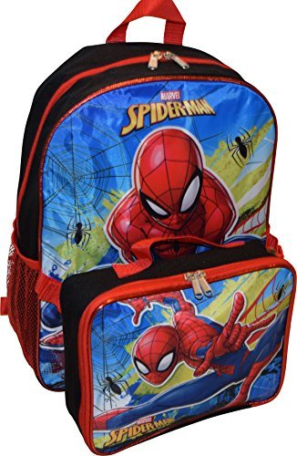 Marvel Spiderman 16'' Backpack With Detachable Lunch Box by Spiderman
