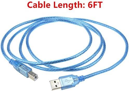 SLLEA 6ft USB Printer Cable Cord for Canon MG8120 MG7520 MG2924 MG3522 MG6320