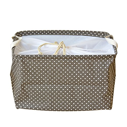 DuShow Large Size Storage Square Box/Snack Basket/Toy Storage basket/Dirty Clothing Basket With Cover for Nurseries/Babies/Kids and Home Children Books /Dog Supplies/Playrooms/Bookshelves (Coffee) (Rattan Elephant Hamper)